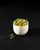 Panna cotta with asparagus and parmesan