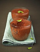 Chocolate and mint mousse