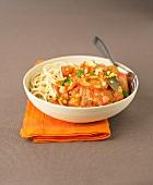 Osso-bucco and spaghetti