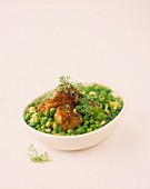 Meat balls with peas