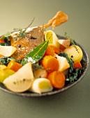Pot au Feu (Eintopfgericht aus Frankreich) mit Ente