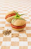 Cinnamon,cumin and tomato puree Whoopies