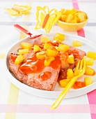 Gammon with pineapple