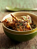 Sauteed chicken with sesame seeds