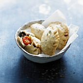 Tomato,olive and anchovy turnover