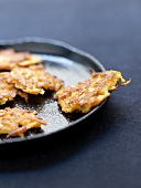 Carrot ,christophine,almond and massala fritters