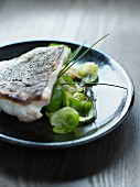 Fish fillet with brussels sprouts and soya sauce