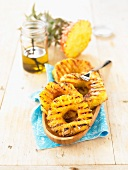 Grilled pineapple with vanilla oil