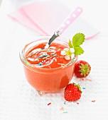 Strawberry-banana compote