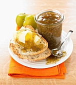 Greengage plum-poppyseed jam