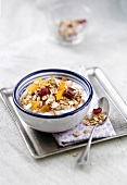 Fromage blanc with muesli and dates