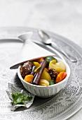 Vegetable and date Tajine