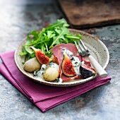 Gorgonzola Raclette with coppa,figs and potatoes