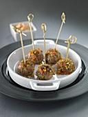 Lamb and pepper meat balls