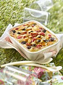 Summer fruit and almond cream gratin