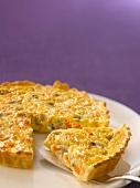 Pumpkin,Roquefort and Comté tart