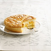 Fromage blanc and peach cake