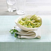 Zucchini and apple salad
