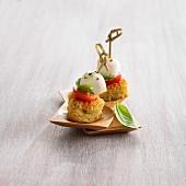 Zucchini and basil savoury Baba