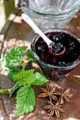 Blackcurrant and star anise jam