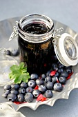 Blueberry and geranium oil jam