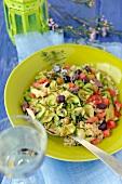 Bulghour,zucchini,tomato,olive and sultana salad