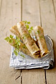 Beef and parsley cigars