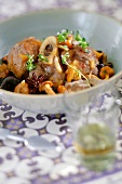 Moroccan autumn vegetable and mushroom Tajine