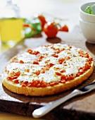 Cheese-tomato pizza
