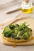 Broccoli and goat's cheese tatin tarts