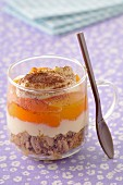 Apricot and Earl Grey tea tiramisu
