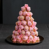 Pink biscuit French Wedding cake