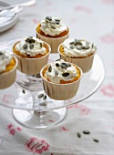 Pumpkin and squash seed cupcakes