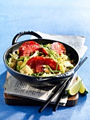 Cabbage and Chorizo wok