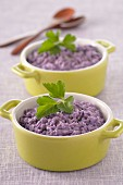 Purple potato mash
