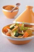 Vegetable and potato Tajine with ginger