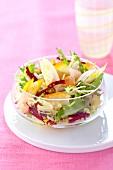 Chicory and haddock salad