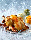 Capon stuffed with chestnuts