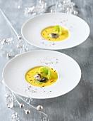 Austernsuppe mit Safran