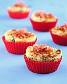 Bacon-spinach mini cheesecakes