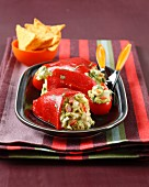 Piquillos stuffed with guacamaole and cilantro