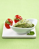 Cream of avocado with chili pepper