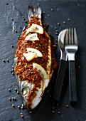 Fish stuffed with a spicy paste