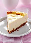 Ein Stuck Cheesecake
