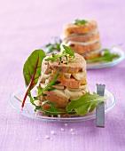 Foie gras and artichoke mille-feuille