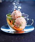 Salmon ice cream