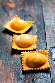 Homemade raviolis