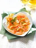 Salmon carpaccio with physalis