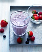 Summer fruit milk shake
