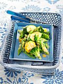 Green vegetable and sweet corn salad